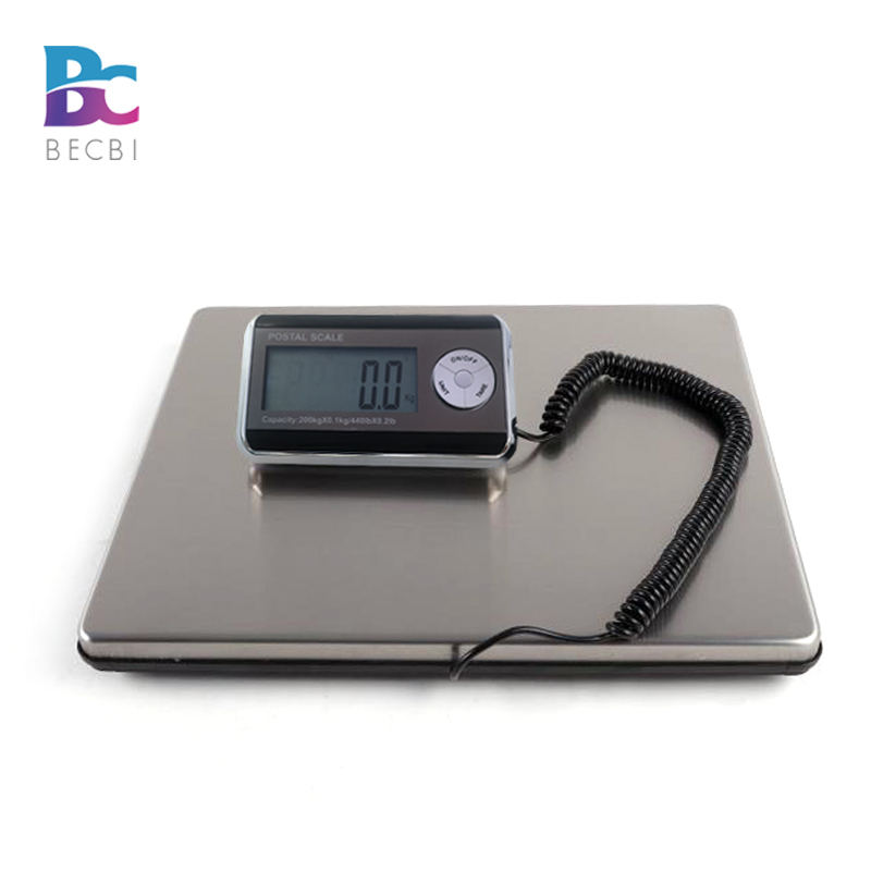 BECBI Smart Weigh Post Digital Shipping Weight Scale, 440LB 200KG,UPS USPS Post Office Postal Scale Luggage Scale