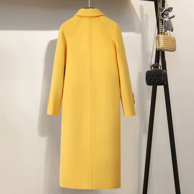 De Chaud Black Long Automne Veste Laine Hiver Marque Cachemire face Femelle Grade En Élevé yellow Double Vestes Femmes Manteau Élégant Survêtement Mince q4awq8B