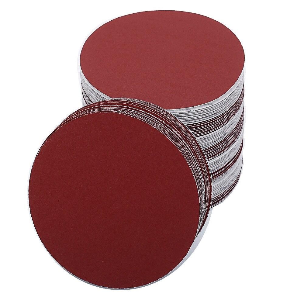 Image 2 - 100pcs 6 Inch 150mm Round Sandpaper Disk Sand Sheets Grit 40 2000 for Choose Hook Loop Sanding Disc for Sander GritsAbrasive Tools   -