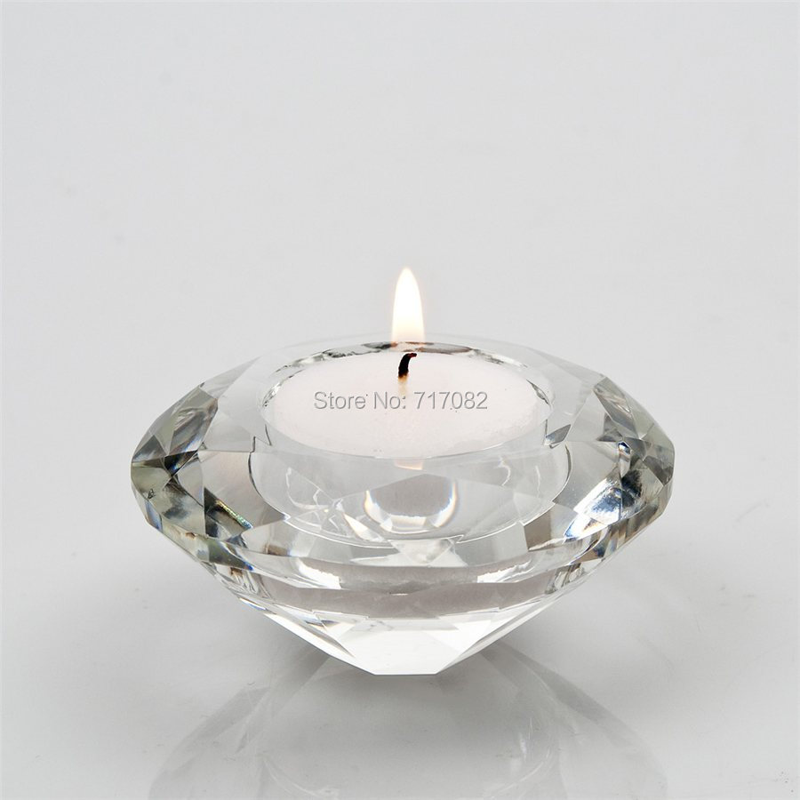 Crystal Candle Holder Tealight Holders Gl Tea Light Candlestick For Wedding Decor Home Centerpieces