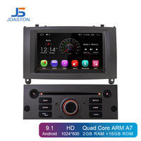 JDASTON Android 9.1 Car DVD Player For Peugeot 407 2004 2010 GPS Navigation Multimedia Stereo 1 Din Car Radio WIFI IPS Screen SD