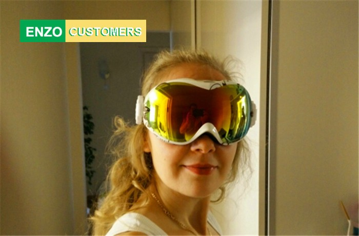 Okulary snowboardowe Mężczyźni i kobiety, Gogle narciarskie UV400, - Narciarstwo i deska snowboardowa - Zdjęcie 5
