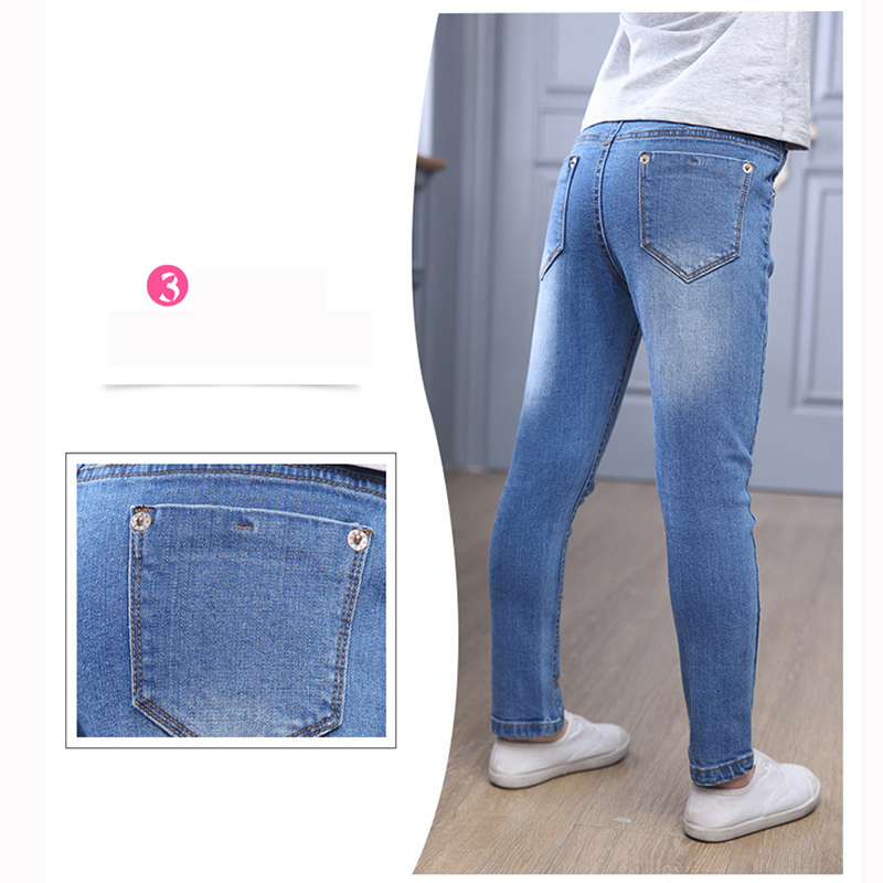 New Style Girls Hole Jeans Kids Jeans Girls Trousers Autumn Fashion - Children's Clothing - Photo 6