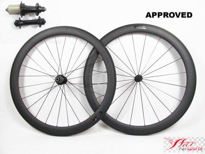 Farsports FSC50 TM 23 ED СТУПИЦЫ колеса углерода легкий трубчатые колеса 50 мм, V тормозной дорога велосипед колесной углерода с 23 мм широкий