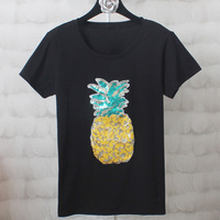 Plus Size 4XL Women Summer Short Sleeve Embroidery Flower T Shirts Fashion Loose White Black Top