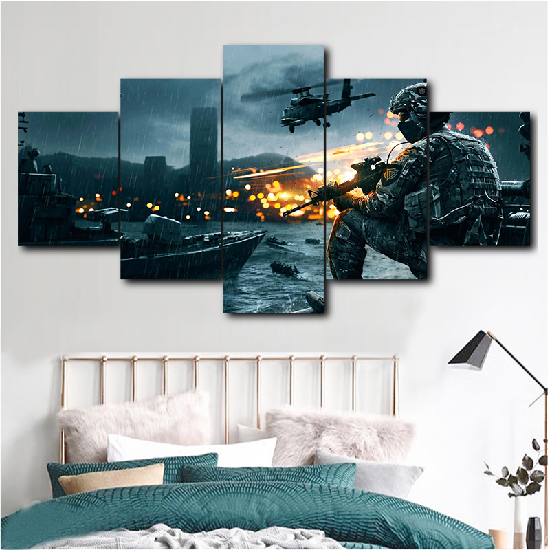 Canvas Painting 5 Star Wars Painting Poster Modular Picture Modern Battlefield 4 Canvas Art Painting Frameless