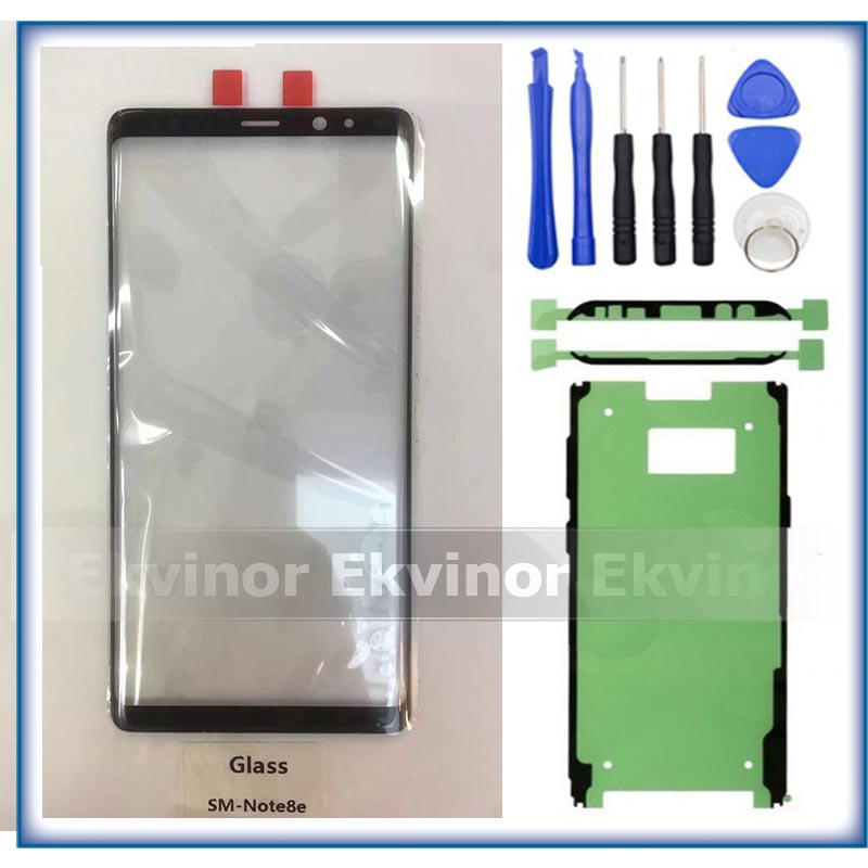 """Original Glass For Samsung Galaxy Note8 Note 8 N950 Front Glass 6.3"""" Touch Screen Top Lens LCD Outer Panel + Adhesive + Tools"""