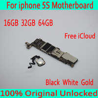 Black White Gold for iphone 5S Motherboard with Touch ID,Original unlocked for iphone 5S Mainboard + Full Chips,16GB/ 32GB/ 64GB