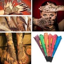 Прямая поставка, хна, конусы, индийская хна, тату, паста, чернила, цвет, водостойкая, временная татуировка, боди-арт, наклейка, менди, краска для тела, TSLM2