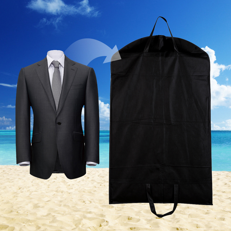 1pc Suit Storage Bag Black Dustproof Hanger Coat Clothes Garment Cover Bags 100 60cm In From Home Garden On
