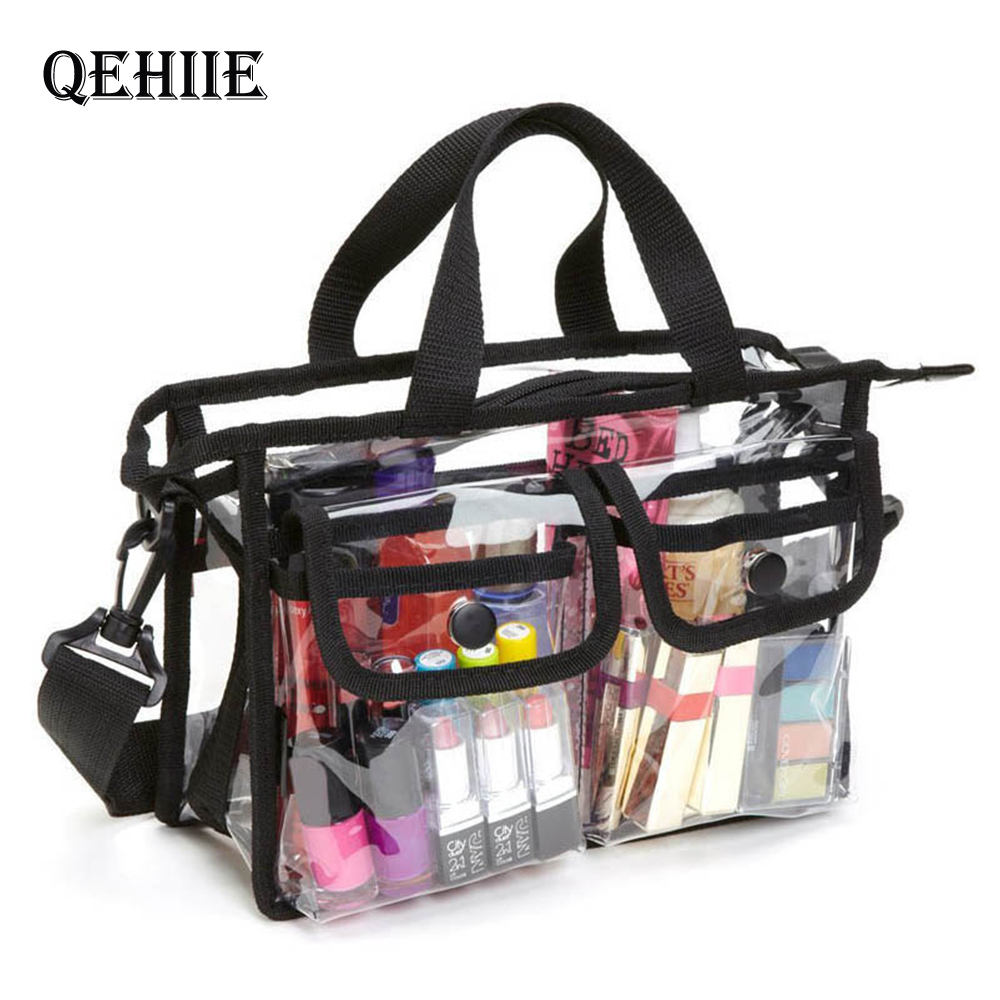 Fashion Transparent EVA Bags Large Capacity Ladies Tote Bag Women Thicken Handbag Beach Shopper Makeup Organizer Shoulder Bag