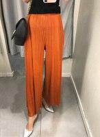 Расширенный моды более тонкие 4 вида цветов девять женщин морщины свободные штаны miyake плиссированные Штаны Бесплатная доставка