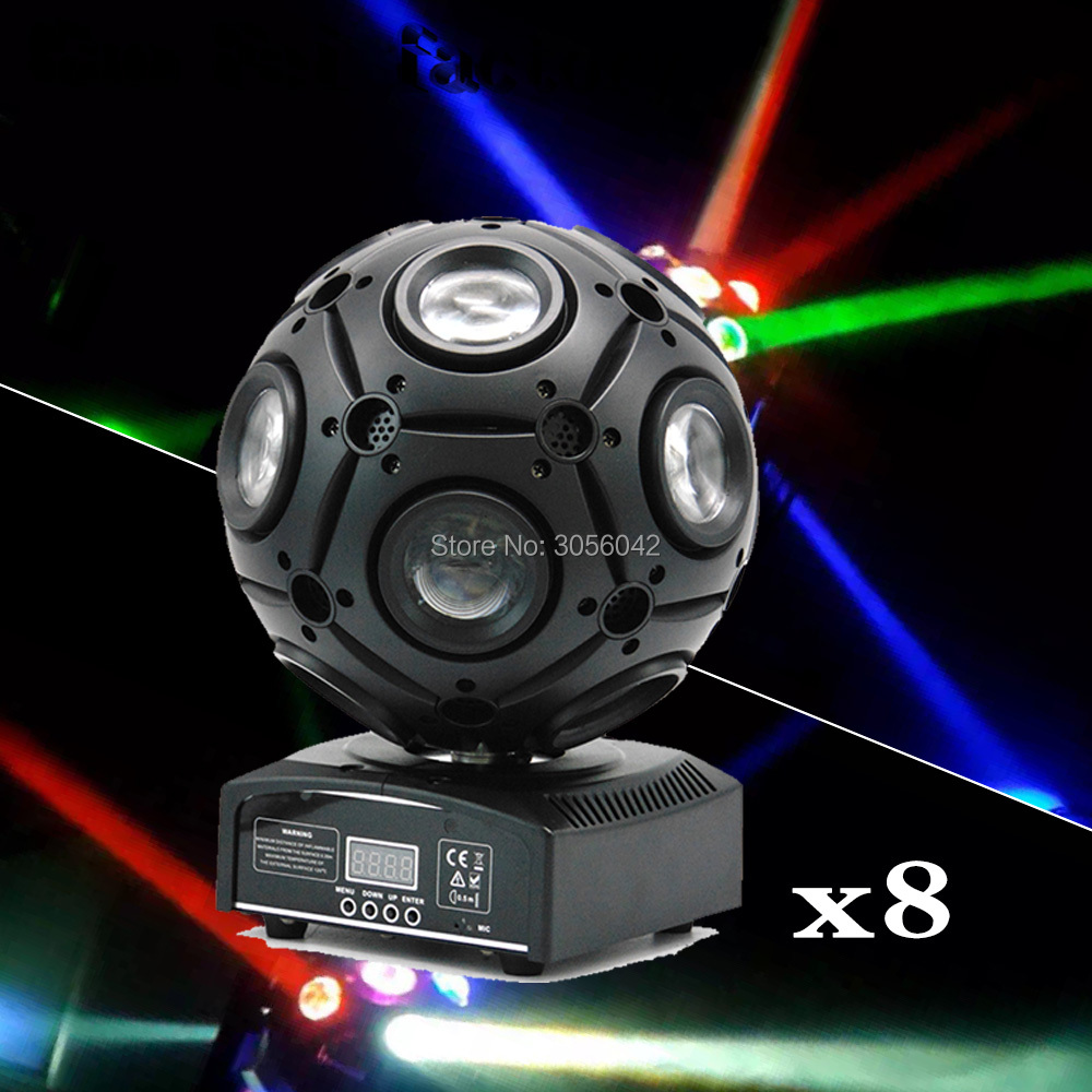 8pcs/lot 4in1 RGBW football moving head light led beam stage light Disco DJ Bar Effect UP Lighting Show DMX Strobe for Party KTV8pcs/lot 4in1 RGBW football moving head light led beam stage light Disco DJ Bar Effect UP Lighting Show DMX Strobe for Party KTV