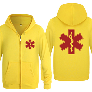 Image 3 - EMT Emergency Medical Technician Hoodies Men 2018 Mens Fleece Zipper Cardigans Hooded Sweatshirts