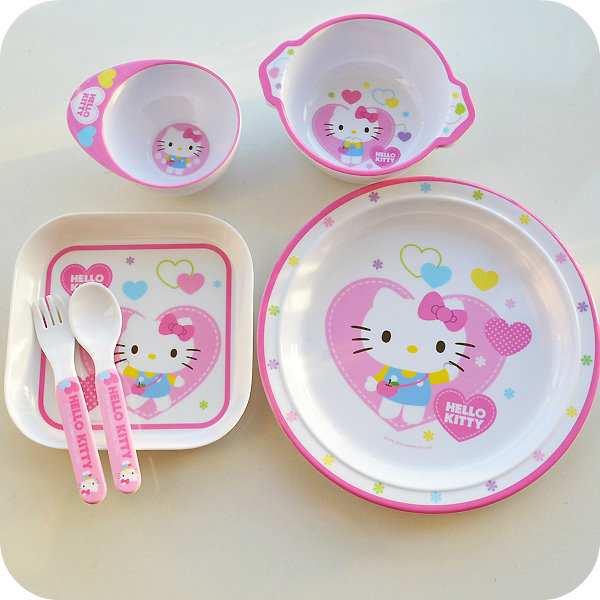 1 Pcs.Kawaii Kitty Cat Children Advanced Melamine Tableware Strong Anti shock.Kids Imitation Porcelain Dinnerware.Table Decor-in Bowls from Home \u0026 Garden on ...  sc 1 st  AliExpress.com & 1 Pcs.Kawaii Kitty Cat Children Advanced Melamine Tableware Strong ...