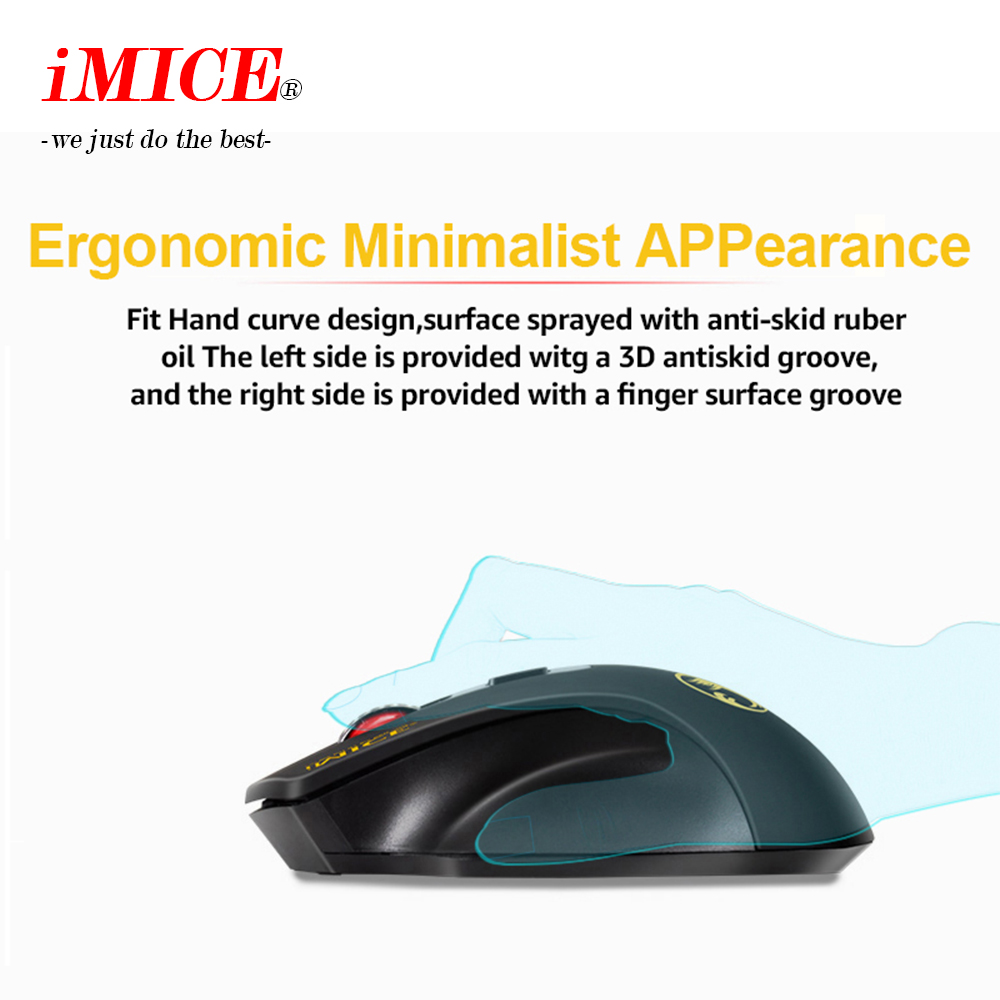 Image 3 - iMICE E 1800 Wireless mouse 2000DPI Adjustable USB 3.0 Receiver Optical Computer Mouse 2.4GHz Ergonomic Mice For Laptop PC Mouse-in Mice from Computer & Office