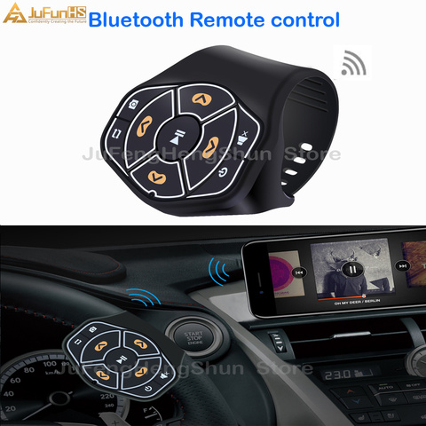 bluetooth sem fio de midia de controle remoto botao de direccao do carro roda de
