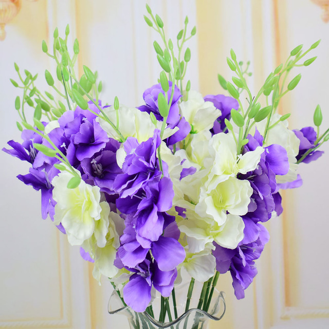 Silk Erfly Orchid Artificial Flowers For Homes Wedding Tabletop Decoration Bouquets Diy White Purple Pink Fake
