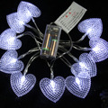 1.5m 10 Bulbs battery operated LED Heart strings luminaria decoration lighting lamps Christmas holiday indoor home night lights