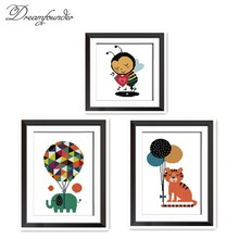 Cinta Bee Cross Stitch Kit Animal18ct 14ct 11ct Count Cetak Jahitan Bordir DIY Buatan Tangan Menjahit PLUS(China)