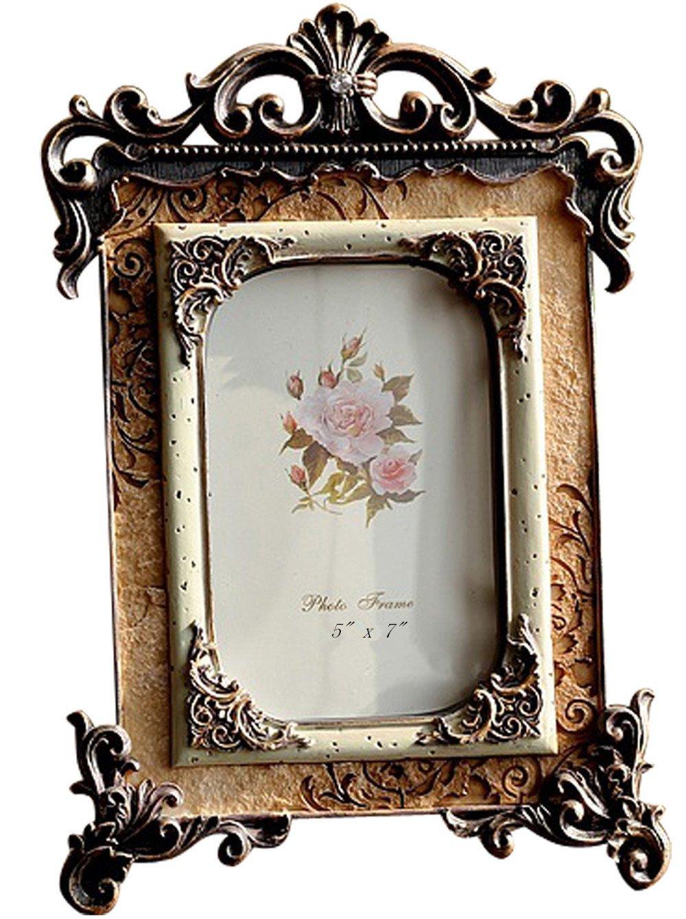 Giftgarden 5x7 Vintage Golden Picture Frames European Photo Frame ...
