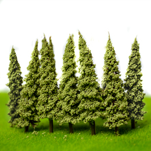 5.5CM green color  Railroad Layout Architectural model making materials scale plastic tree 100PCS
