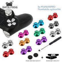 Aluminum Metal Analog Joystick Thumb Stick Grip Cap Replacement Buttons For Playstation 4 PS4 Slim/Pro/X1/X1 Slim Controller стоимость