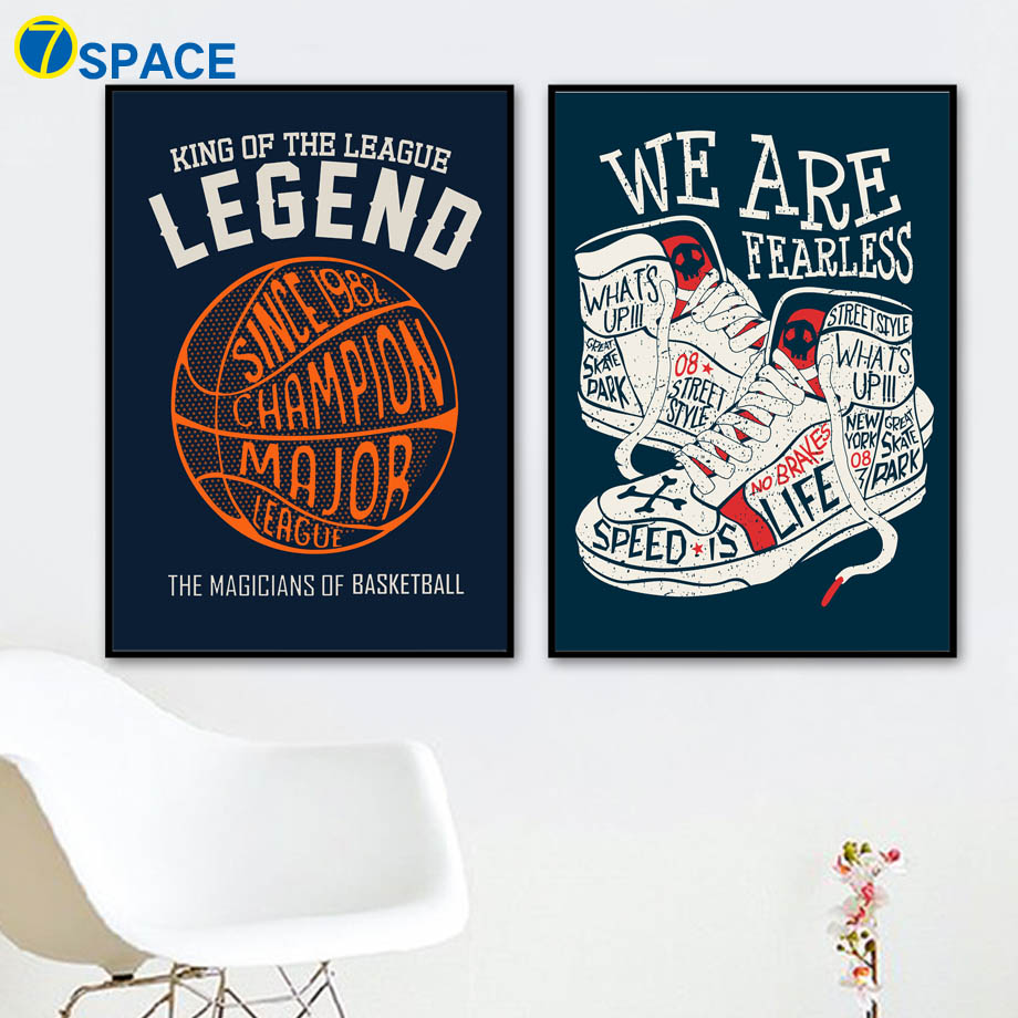 Hip Hop Basketball Sneaker Quotes Canvas Painting Wall Art Canvas Posters And Prints Nordic Poster Wall Pictures Kids Room Decor in Painting Calligraphy from Home Garden
