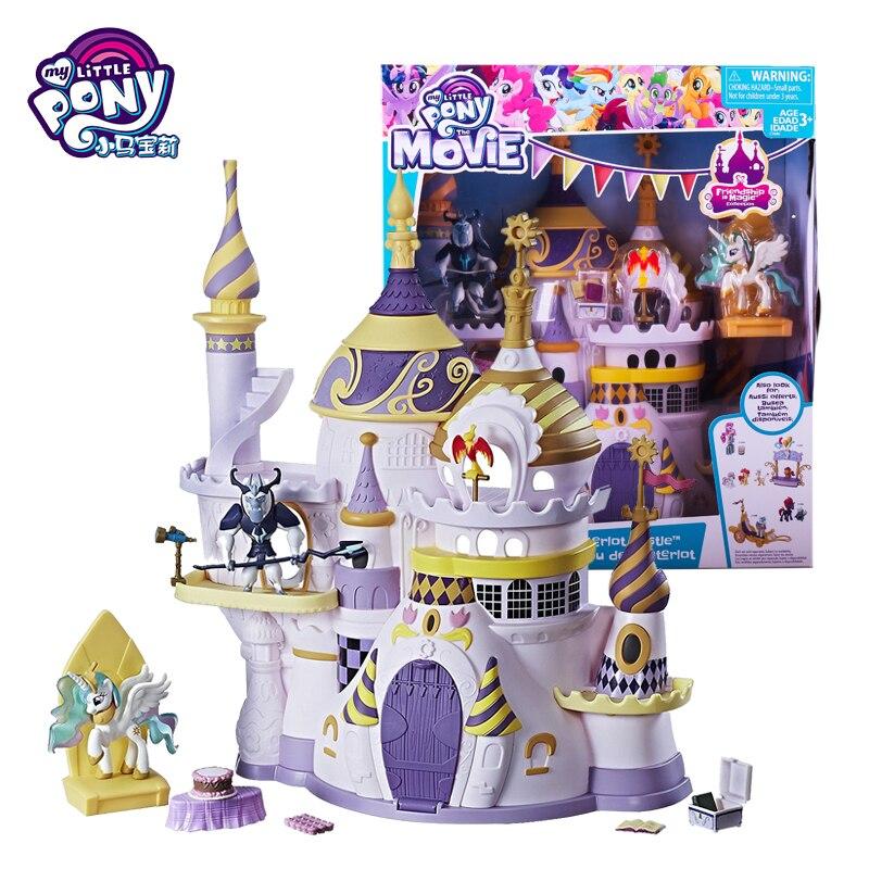 Marque originale mon petit poney jouets amitié est magique cristal château costume pour petit bébé poupée maison filles Bonecas Figure cadeau