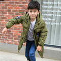 Keep Warm Jacket for boys Long Hooded Winter Clothes Winter White Duck Down Coat Kids Outerwear Jacket 4 Color 4-12T dj047
