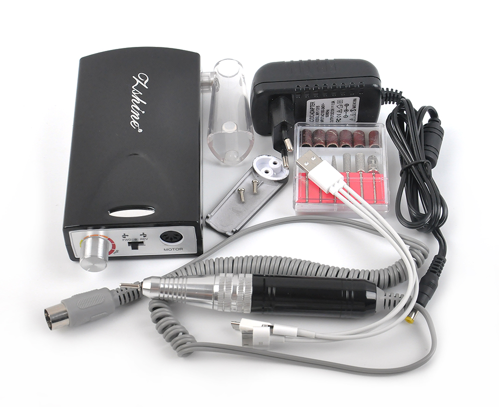 Professional Portable Black Electric <font><b>Nail</b></font> <font><b>Drill</b></font> with 6000mA High-capacity <font><b>Battery</b></font> Working more than 5 Hours