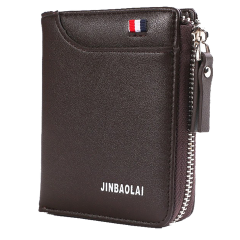 Luxury Brand Men Wallet Leather Credit Card Holder Wallets Zipper Male Coin Pocket Clutch Money Bag Wallets Carteira Masculina Lahore
