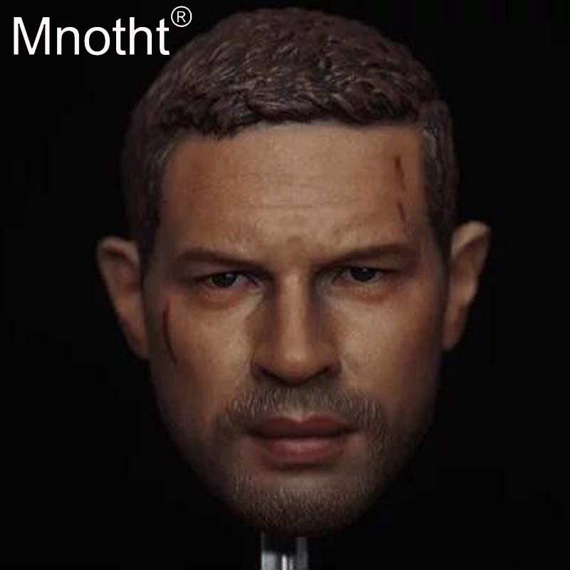 Mnotht 1:6 Scale Mad Max Tom Hardy Head Carving Model Eleven Male Soldier Head Sculpt Model Toys Collection Gift hobbies m3