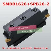 1 PCS NC SPB26-2 conjunto barra de corte e 1 PCS SMBB1626 CNC turret Torno Ferramenta de corte Titular Estande Para SP200 Máquina de torno