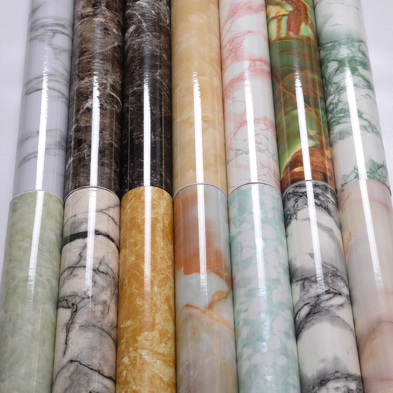 Marble Decorative Film Vinyl Self Adhesive Wallpaper Contact Paper For Kitchen Countertops Living Room TV Background Wall Paper