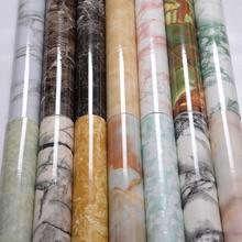 หินอ่อนตกแต่งฟิล์มไวนิล Self Adhesive Wallpaper วอลล์เปเปอร์กระดาษสำหรับ Countertops ห้องครัวห้องรับแขก TV พื้นหลังกำแพงกระดาษ