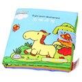 Livro atividade Bebê Dos Desenhos Animados Macio Livro de Pano Brinquedo Educativo Série Livro para Crianças Bebês Crianças Aprendendo Desenvolvimento Do Cérebro Direito