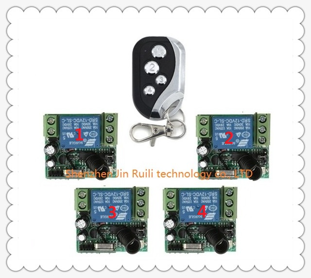 DC 12V 10A 1CH RF Wireless Remote Control Switch System 315 MHZ 433 MHZ Transmitter Receiver 20-200m High Sensitivity JRL-4210 wireless pager system 433 92mhz wireless restaurant table buzzer with monitor and watch receiver 3 display 42 call button