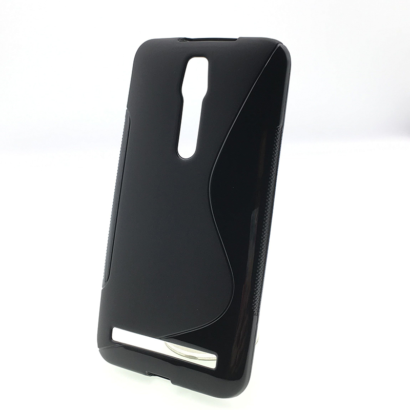 40820b89265 Caseishere Soft s-line Wave antideslizante TPU gel cubierta caso piel para  Asus zenfone 2 ZE550ML ZE551ML deluxe 5.5 pulgadas