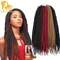 18'' 22'' Box Braids Hair 80g/pack Bulk Crochet Braids Hair Extensions Latch Hook Senegalese Havana Mambo Twist  Braiding Hair
