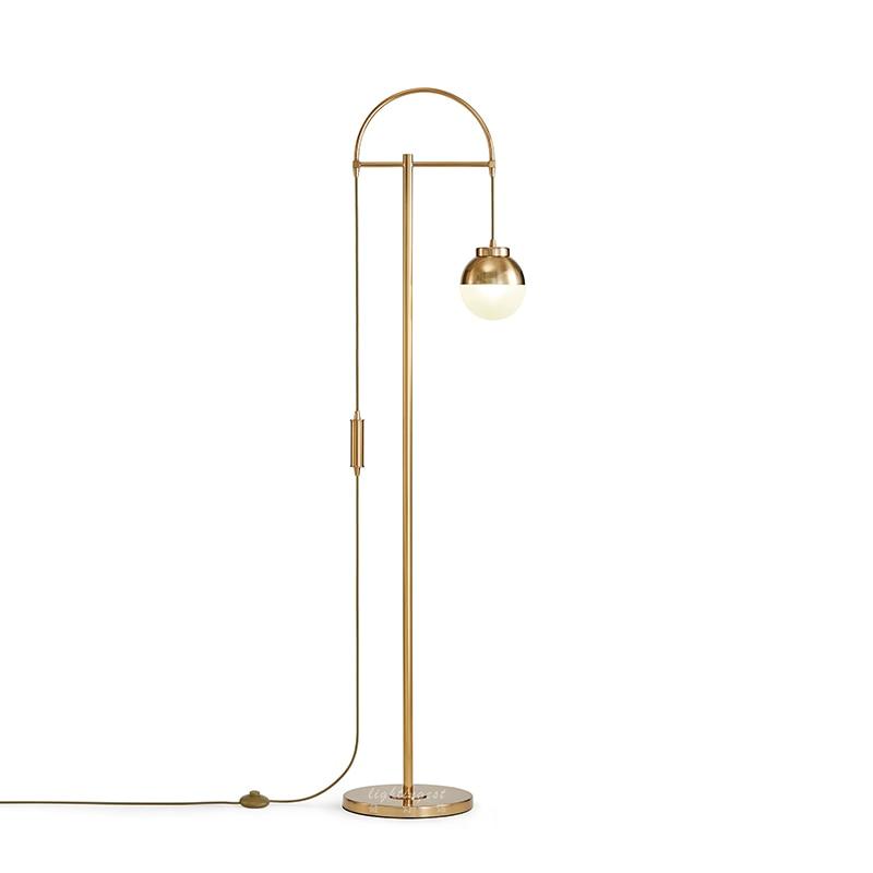 Скандинавский пост современный золотой напольный светильник, минималистичный Железный стеклянный шар, абажур для ресторана, роскошные све