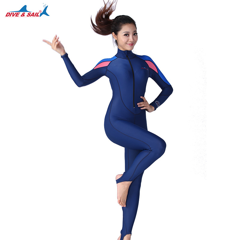 DIVE&SAIL Men Women One-piece Wetsuits Lycra Long Sleeve Full body UPF50+ Anti-skid Swimming Surfing Diving Snorkeling Wet SuitsDIVE&SAIL Men Women One-piece Wetsuits Lycra Long Sleeve Full body UPF50+ Anti-skid Swimming Surfing Diving Snorkeling Wet Suits