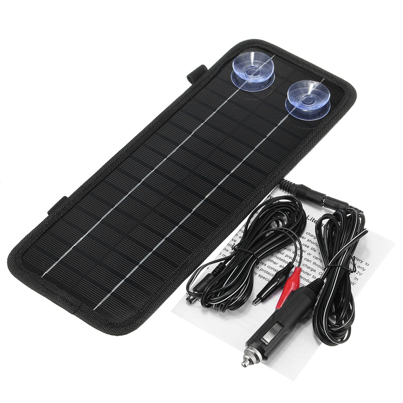 CLAITE 12v 4.5w Portable Monocrystalline Solar Panel Cell Module System For Car Boat Motorcycle Maintainer Power Battery Charger leory 12v 4 5w solar panel portable monocrystalline solar cells power charger diy module battery system for car automobile boat