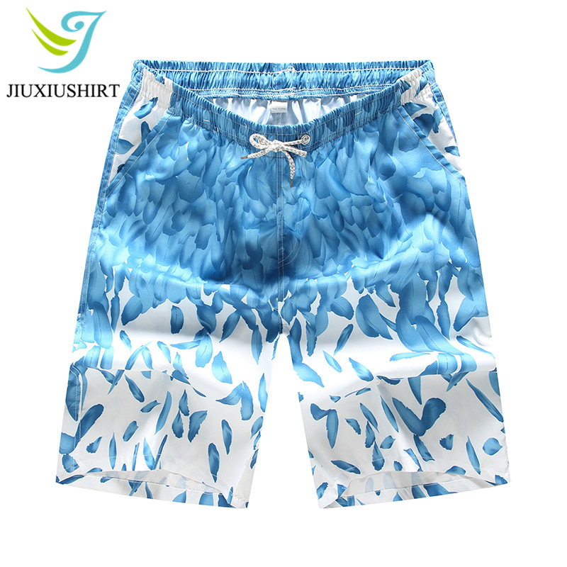 Men Printed Beach   Shorts   Quick Dry Swimwear Swimsuit Swim Trunks Surfing   Board     Shorts   Running   Shorts   Beachwear   Shorts   Plus Size