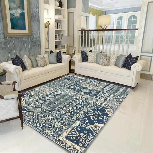 Mediterranean Rugs And Carpets For Home Living Room American Bedroom Floor  Mat Coffee Table Area Rug