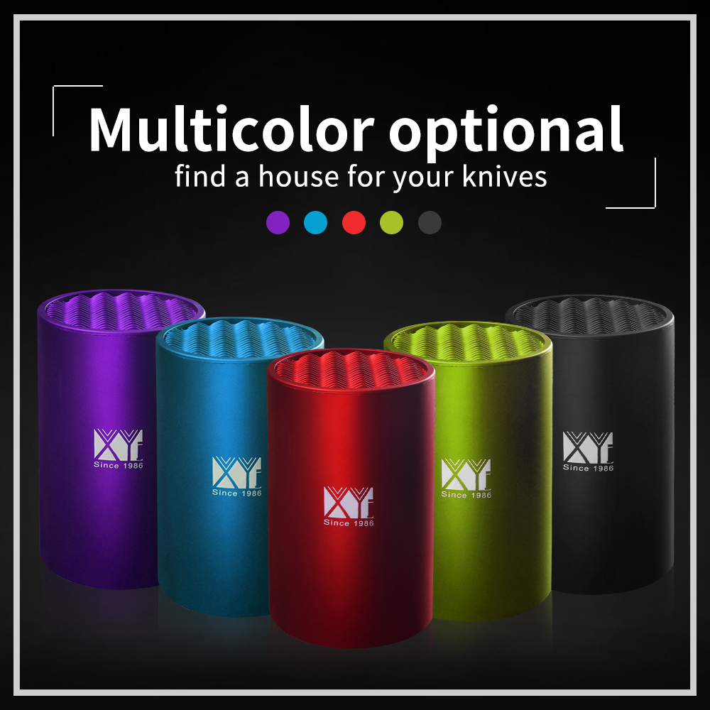 XYj Tool Holder Multifunctional Plastic Tool Holder 6 8 Inch Knife Block Multi-color Knife Stand Sooktops Tube Shelf Chromophous