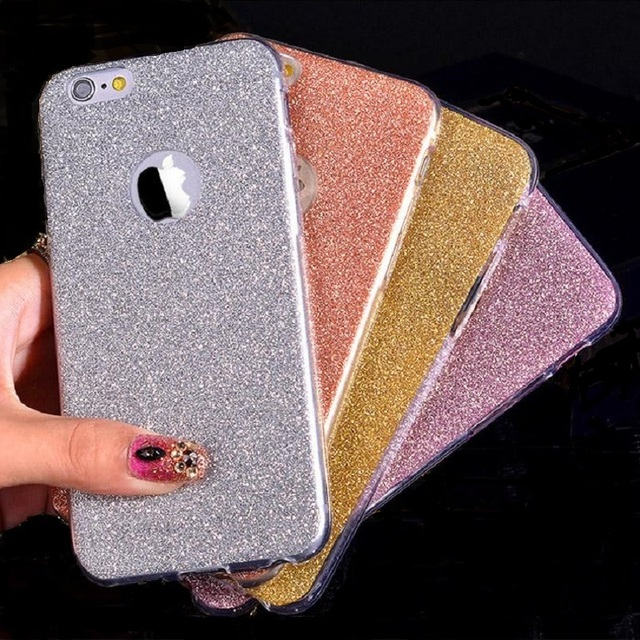 size 40 f2a2e 9ac6b US $1.99  Ultra Thin Glitter Bling Cute Candy Cover For iPhone 6 Case  Crystal Soft Gel TPU Phone Cases For iPhone6 6S 6 Plus 6S Plus Case-in  Fitted ...