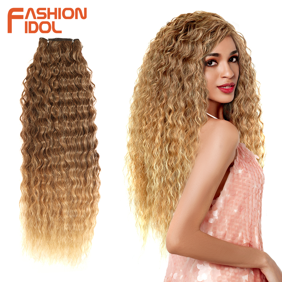 Hair-Bundles Extensions Wave-Hair Deep-Wave Synthetic Curly Loose Fashion Idol Ombre