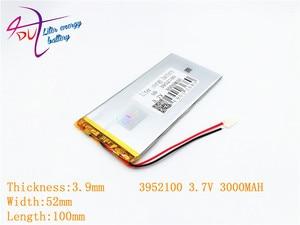 Image 3 - 3952100 3.7 V 3000 mah 4050100 ليثيوم بوليمر بطارية مع لوح حماية PDA ل وحية المنتجات الرقمية