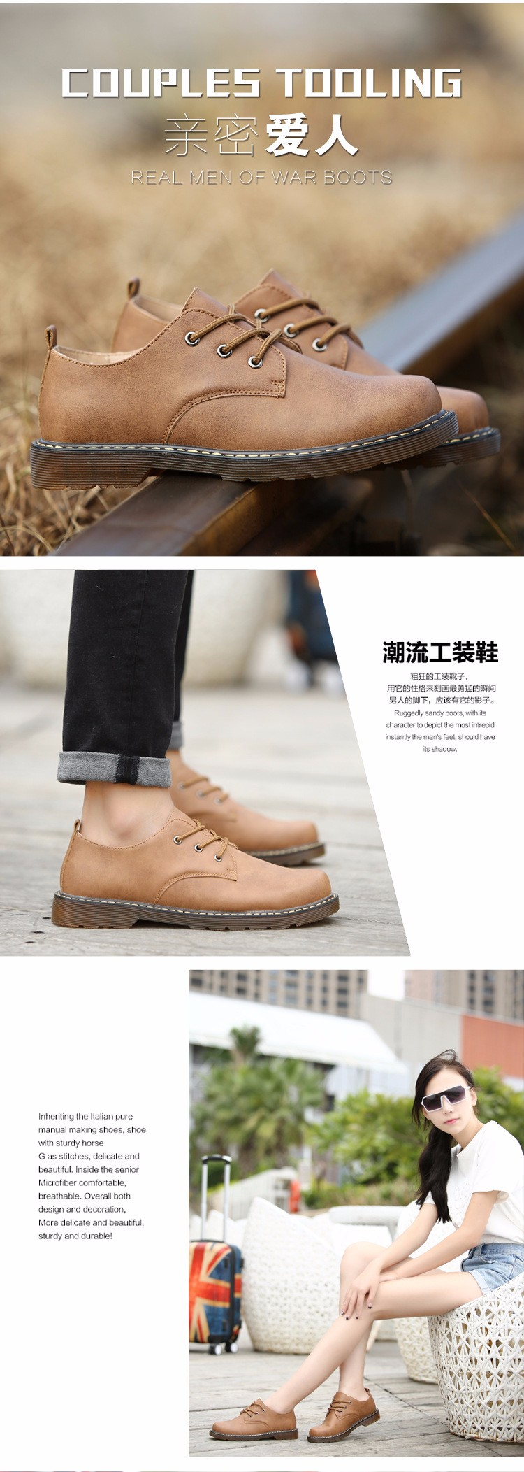 KUYUPP Fashion England Genuine Leather Shoes Women And Men Flats Oxfords Casual Lace Up Ladies Shoes Round Toe Men Loafers PX128 (19)
